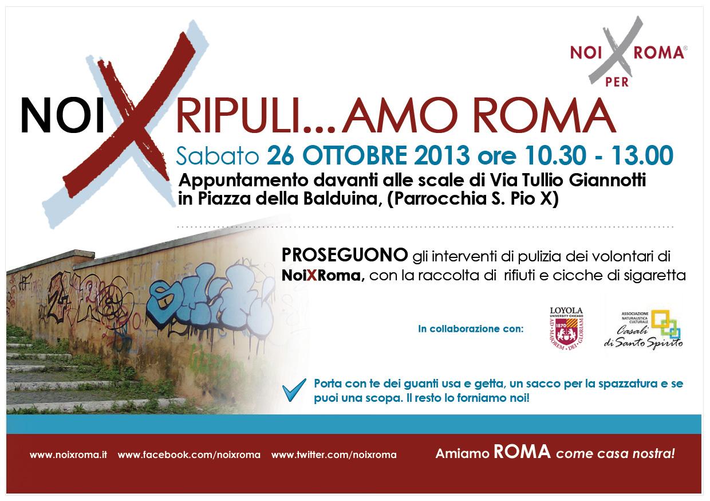 Ripuli amo roma l associazione noixroma pulisce piazza for Piazza balduina