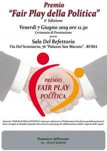 Premio Fair Play della Politica - 1