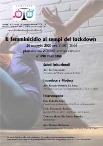 Il femminicidio ai tempi del lockdown - 20 maggio 2020