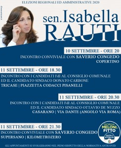 Locandina elezioni 2020 Puglia